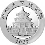 Panda 30 g Silber 2021 - Rückseite mit Pekinger Himmelstempel