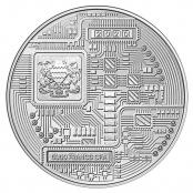 Bitcoin Münze aus Silber 1 oz (Chad) - Wertseite