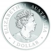 Koala 1 oz Silber 2020 - Auf der Wertseite ist traditionell Elizabeth II abgebildet