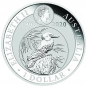 Kookaburra 1 oz Silber 2020 - Wertseite