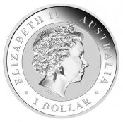 Koala 1 oz Silber 2019 - Auf der Wertseite ist traditionell Elizabeth II abgebildet