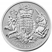 Royal Arms 1 oz Silber 2021 - Wertseite