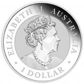 Australian Nugget 1 oz Silber Golden Eagle  - Wertseite