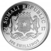 Somalia Elefant 1 oz Silber 2017 - Wertseite