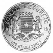 Somalia Elefant 1 oz Silber 2018 - Wertseite