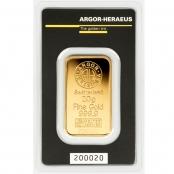 Goldbarren 20 Gramm Argor-Heraeus - Blister