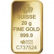 Goldbarren 20 Gramm Fortuna Veriscan