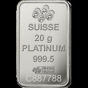Platinum Bar 20 Gram PAMP Suisse - Blister
