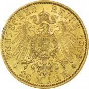 Deutsches Kaiserreich 20 Mark Gold - Rückseite