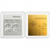 20 x 1 g Gold CombiBar Heraeus - Rückseite