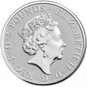 Queen's Beasts White Lion 2 oz Silver 2020 - Wertseite