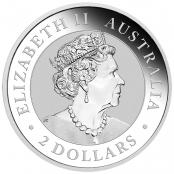 2Australian Nugget 2 oz Silber Hand of Faith  - Wertseite
