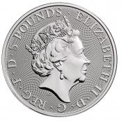 Queen's Beasts White Horse 2 oz Silber 2020 - Wertseite