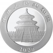 Panda 30 g Silber 2020 - Rückseite mit Pekinger Himmelstempel