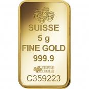 Goldbarren 5 Gramm Fortuna - PAMP Suisse Logo