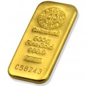 Goldbarren 250 Gramm Argor-Heraeus  3D Ansicht