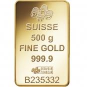 Goldbarren 500 Gramm Fortuna PAMP Suisse - LBMA zertifiziert