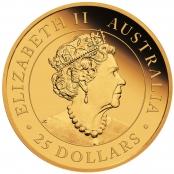 Kookaburra 1/4 oz Gold 2021 - Wertseite