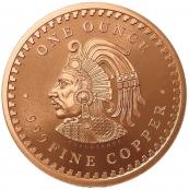 Aztekenkalender 1 oz Kupfer - Rückseite