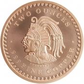 Aztekenkalender 2 oz Kupfer - Rückseite