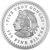Aztekenkalender 5 oz Silber - Rückseite