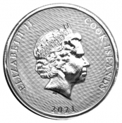 Cook Islands 1/4 oz Silber - Rückseite