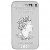 1 oz Drache Silber 2021 - Rückseite