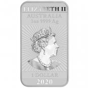 1 oz Drache Silber 2020 - Rückseite