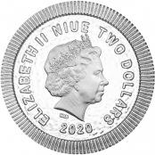 Eule von Athen 1 oz Silber 2020 - Wertseite