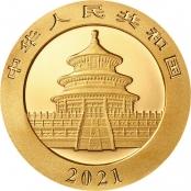 Panda 8 Gramm Gold 2021 - Motiv des Himmelstempel in Peking