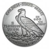 Indian Head 1 oz Silber, auf der Rückseite ist ein stehender Adler mit Olivenzweig abgebildet.