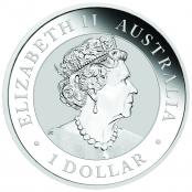 Kangaroo 1 oz Silber 2020 Gilded - Wertseite der einmaligen Silbermünze der Perth Mint
