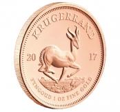Krügerrand 1 oz Gold 2019 - Auf der Rückseite der Krügerrand Münze ist ein Springbock abgebildet.