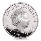 Queen's Beasts Lion 10 oz Silber 2017 Proof- Wertseite