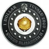 Lunar Maus Rotating Charm 1 oz Silber 2020 - Wertseite mit Queen Elizabeth II, Königin von England.