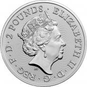 Lunar Maus UK 1 oz Silber 2020  - Wertseite