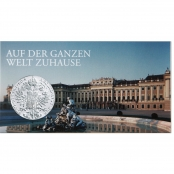 Maria Theresien Taler - Rückseite mit Doppeladler, Kaiserkrone und Wappen