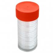 Münzkapsel Tube -  Die Box bietet Platz für Münzkapseln bis zu einem Außendurchmesser  von 44,90 mm.