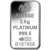 Platinbarren 2,5 Gramm PAMP Suisse - Rückseite