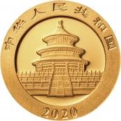 Panda 8 Gramm Gold 2020 - Motiv des Himmelstempel in Peking