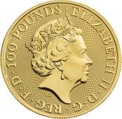 Queen's Beasts Completer Coin 1 oz Gold - Wertseite