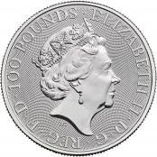 Royal Arms 1 oz Platin 2021 - Wertseite