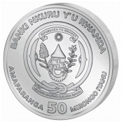 Ruanda Bushbaby 1 oz Silber 2020 - Wertseite