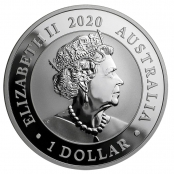 Schwan 1 oz Silber 2020 - Wertseite