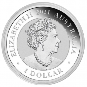 Schwan 1 oz Silber 2021 - Wertseite