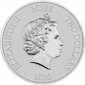 Turtle 1 oz Silber 2020 - Wertseite