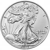 American Silver Eagle 1 oz - Die Rückseite ziert das amerikanische Wappentier, der Weißkopf-Seeadler