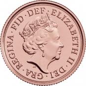 Der Gold Sovereign hat kein Nennwert, das Nominal wird über Gewicht und Abmaße definiert.