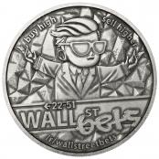 Wallstreetbets 1 oz Silver Antique Coin - Reverse