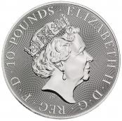 Queen's Beasts White Horse 10 oz Silber 2021 - Wertseite